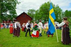 Folklore ensemble of Sweden Royalty Free Stock Image