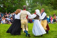 Folklore ensemble of Sweden Royalty Free Stock Photo