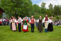 Folklore ensemble of Sweden Stock Image