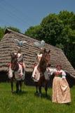 folklore för korsfararedansareryttare Royaltyfri Bild
