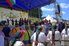 Folklore Festival scene-Rozhen Bulgaria Royalty Free Stock Images