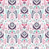 Ornament. Pattern. Folklore floral ornament. Seamless pattern stock illustration
