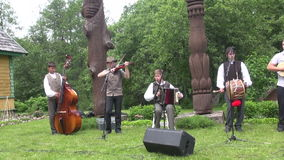 Folklore group boys stock video footage