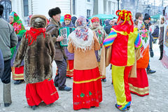 Folklore group at the fair Royalty Free Stock Photo