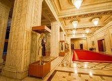 Folklore kostümiert Sammlung für Ceausescu-Palast stockbilder
