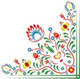 Folklore motifs of flowers. Folklore motifs of Czech flowers. Folklore motives of Slovak flowers. Folk motives of flowers from Hungary. Folk motives of flowers stock illustration