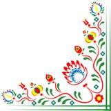 Folklore motifs of flowers. Folklore motifs of Czech flowers. Folklore motives of Slovak flowers. Folk motives of flowers from Hungary. Folk motives of flowers vector illustration