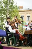 Folklore musicians at CIOFF 2014 Royalty Free Stock Photos