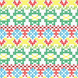 Folklore seamless pattern Stock Photo