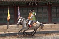 Folklore show, Suwon, Korean Republic Royalty Free Stock Photos