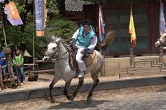 Folklore show, Suwon, Korean Republic Stock Photo