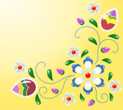 Folklore. The spring folklore background with flower Stock Images
