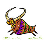 Folklore style bull Stock Image