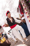 Folkloredans typiska Ibiza Spanien Fotografering för Bildbyråer