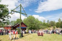Folkloreensemble von Schweden Stockfotos