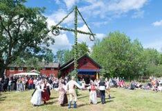 Folkloreensemble von Schweden Stockfotografie