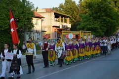 Folklorefestival Lukavac 2016 des International 10 Stockfotos
