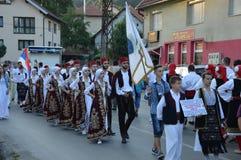 Folklorefestival Lukavac 2016 des International 10 Lizenzfreie Stockfotografie