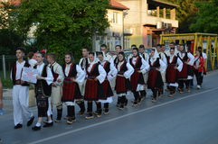 Folklorefestival Lukavac 2016 des International 10 Lizenzfreie Stockbilder