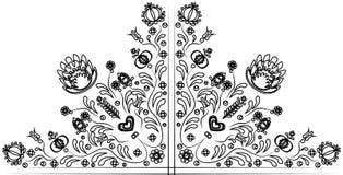 Folkloremotiv av blommor Arkivbild