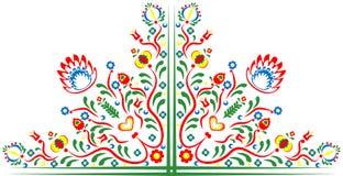 Folkloremotiv av blommor Arkivfoton