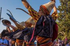 Folkloreteam in Slijmbeurs Royalty-vrije Stock Fotografie