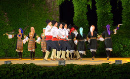 Folkloric dance performance Royalty Free Stock Photo