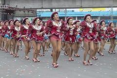 Folkloric dances parade Peruvian national holidays stock photo