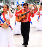 Folkloric group from Paraquay in Spanish Malaga Royalty Free Stock Images