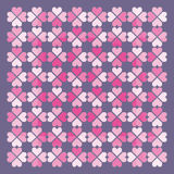 Folkloric hearts pattern. Vector. Abstract vector illustration depicting a background made by hearts pattern Stock Photo