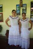 Folkloric latin american dress. Women dressed in folkloric latin american dress Stock Images
