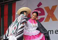 Folkloric mexican dance Royalty Free Stock Images