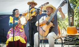 Folkloric musical chilean group Stock Photos