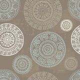 Folkloric  shabby seamless pattern Royalty Free Stock Photography