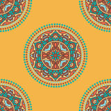 Folkloric textile design Stock Images