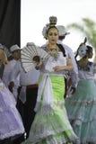Folklorico dansare arkivfoton