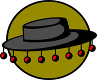 Folkloristische hoed royalty-vrije illustratie