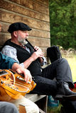 folkloru muzyk Zdjęcia Stock