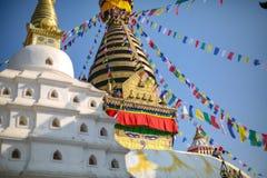Folkmålning Swayambhunath Stupa arkivfoton