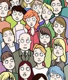 Folkmassa vektor illustrationer