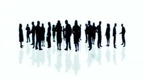 Folkmassa av affärsfolk stock illustrationer