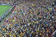 Folkmassa av fans Fotografering för Bildbyråer