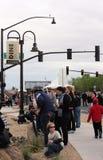 Folkmassa av folk på partiet för drottningliten vikkvarter, drottningliten vik, Arizona Royaltyfri Fotografi