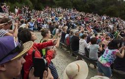 Folkmassa av turister Royaltyfri Bild