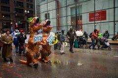 folkmassa Djurens rättigheterdemonstration Folk i gatan royaltyfri bild