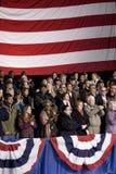 Folkmassa för Barack Obama ändring som vi behöver Arkivbild