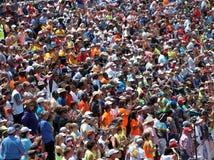 Folkmassa för sportslig händelse Fotografering för Bildbyråer