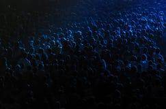 Folkmassa i en konserthall Royaltyfria Bilder