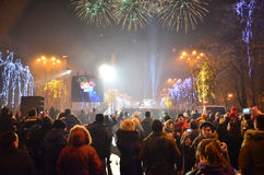 Folkmassa i gatan 5 Royaltyfria Bilder