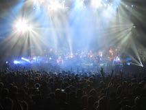 Folkmassa i konserten Fotografering för Bildbyråer